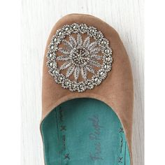 Free People Moroccan Beaded Slipper ($48) ❤ liked on Polyvore
