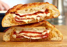 Pepperoni & Cheese Stuffed Ciabatta Bread ~ Fun with Sandwiches! by Carolyn McCaffrey Stalnaker, via Flickr