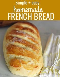 How to make homemade french bread at home. Quick a Homemade Bakery French Bread. How to make homemade french bread at home. Quick a. How to make homemade french bread at home. Quick a. Easy French Bread Recipe, French Bread Loaf, Homemade French Bread, Easy Bread, Easy Homemade Bread Recipes, How To Bake Bread, French Bread Bread Machine, Quick Recipes, Homemade Garlic Bread