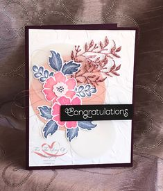 Stampin' Up! Everything is Rosy Medley ~For The Love of Stamping~ Everything's Rosie, Beautiful Handmade Cards, Congratulations Card, Card Kit, Paper Cards, Stamping Up, Flower Cards, Stampin Up Cards, Cardmaking