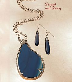 Sensual and Strong  Stones have long been used to connect our human energies to Earth's. Zicana, Westbury, (516) 334-4553, has become the foremost purveyor of this precious resource. Mare Blue blue agate and sterling silver pendant with 150 round diamonds on sterling silver textured necklace with antique finish ($1,500) and blue agate drop earrings with 84 round diamonds ($750) are bold, sexy statements that will empower your timeless beauty forever.     More at http://www.lipulse.com