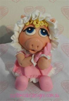 Baby Miss Piggy - Cake by Custom Cake Designs - CakesDecor