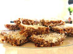 Petite Kitchen | Triple coconut fudge slice - could use prunes instead of dates?