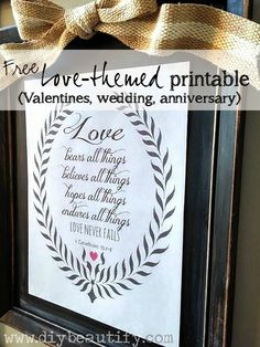 Valentines Printables for Your Home - DIY Beautify featured on Kenarry: Ideas for the Home
