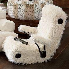 Furlicious Faux Fur Got Game Chair