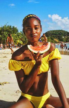 On Melodie Monrose: Lisa Marie Fernandez bikini.