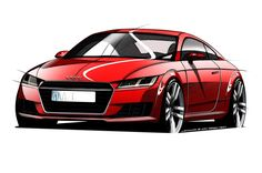 We now know for sure that the all-new 2015 Audi TT will make its debut in a few weeks at the Geneva Motor Show. Because Audi says so! Audi Tt, Audi Cars, Toyota Aygo, Car Design Sketch, Car Sketch, Le Mans, Allroad Audi, Carros Audi, Rallye Raid