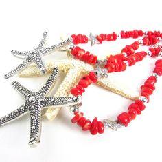 New coral starfish curtain tiebacks....