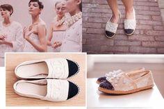 Women fashion: DIY Chanel Espadrilles