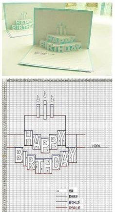 Birthday card 3-D