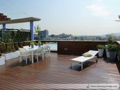 decoracion de terrazas de aticos Rooftop Deck, Terrace, Decoracion Low Cost, Outdoor Furniture Sets, Outdoor Decor, Exterior Design, Sun Lounger, Outdoor Living, Contemporary