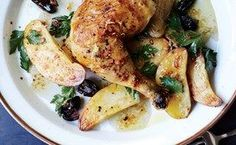 Roast Chicken with Potatoes and Olives / Photo by Christina Holmes #drumsticks and #thighs #chickenlegs