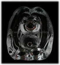 Scandinavian Bergdala Art Glass Troll Figurine Paperweight Crystal