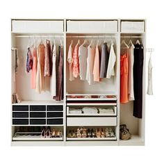 PAX Wardrobe - - - IKEA - I WANTthis in my closest.  Instead of wire shelves: