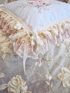 Vintage lace cushion