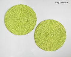 Wiosenne podkładki na stół LightGreen - zestaw - zapleciona - Dekoracja stołu
