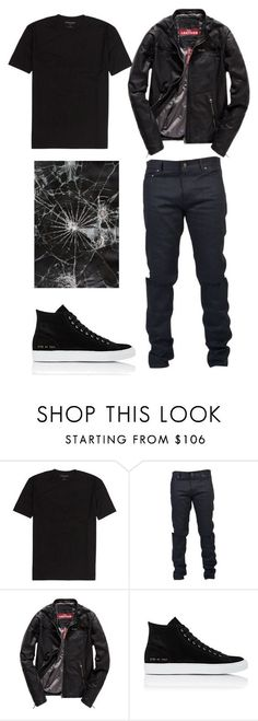 """Blake 4"" by gabriella-houck on Polyvore featuring Yves Saint Laurent, Superdry, Common Projects, men's fashion and menswear:"
