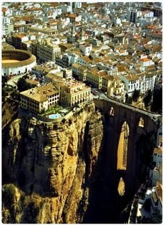 The town of Ronda, province of Malaga - Andalusia, Spain Places To Travel, Places To See, Ronda Malaga, Places Around The World, Around The Worlds, Voyage Europe, Spain And Portugal, Spain Travel, Granada