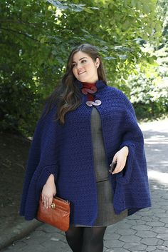 Ravelry: Traditional Cloak pattern by Mary Beth Temple~This pattern is one found in [Printed: this source is a book, magazine, or pamphlet] Curvy Girl Crochet: 25 Patterns that Fit and Flatter. It can be found on Amazon, and other places online or your local craft store.