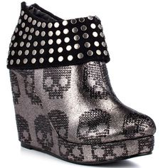 Iron Fist Shoes,Ankle Boots , Wedges , Platform , Rounded Toe ,heels.com