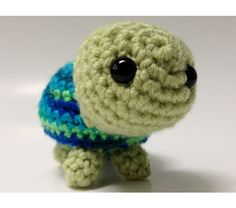Amigurumi baby turtle crochet stuffed animal buddy