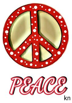"""""""Peace Red ✌Peace Sign __[Peace sign Art by KN]"""