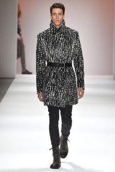 "Having a ""custo-gasm"" for this Custo Barcelona men's feather coat. Amaze! #fashion"