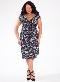 7d64f8ad199  plussize Dakota Plus Size Dress in Abtruse Dot at Curvalicious Clothes   bbw curvy