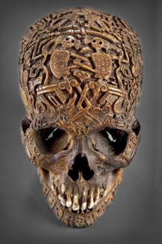 Tibetan Carved Skull