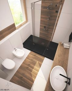 modern & scandi bathroom for parents