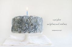 Silver Christmas Rose Cake from @Amanda Rettke (in this months issue of Sweet Paul Magazine)