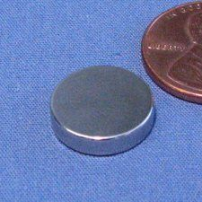 """CMS Magnetics® N45 Disc Neodymium Magnets Dia 1/2X1/8"""" NdFeB Rare Earth Magnet Lot 10 by CMS Magnetics. Save 47 Off!. $7.25. This magnet is made of Grade N45 NdFeB magnetic material, also known as super powerful magnetic material. Gauss Rating: over 13,800 Gauss Holding Power: 6.1lb Magnetized Direction: through 0.125"""" Application: Crafting, Science Projects, Holding. About Neodymium Magnets: Neodymium magnets are one of rare earth permanent magnets. Neodymium magnets a..."""