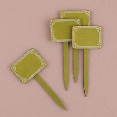 Miniature Wooden Stakes https://weddingshop.theknot.com/product/miniature-wooden-decorative-stakes