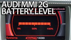 How to activate battery level #Audi MMI 2g #A4 #A5 #A6 #A8 #Q7 Multimedia Interface