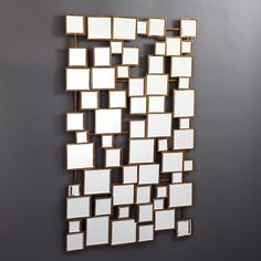 Facets Multi Square Wall Mirror. (use for displaying table assignments)