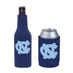 UNC Tar Heels Can & Bottle Koozie Combo