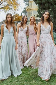 Best Bridesmaids, Bridal Party and Convertible Dresses, Plus Sizes Print Chiffon, Chiffon Dress, Bridal Party Dresses, Wedding Dresses, Light Pink Bridesmaid Dresses, Bridesmaids, Bridesmaid Inspiration, Marie, Blush Pink