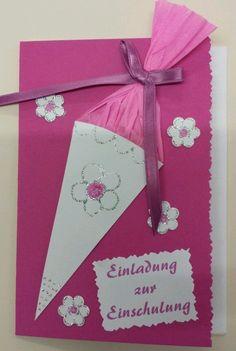 Einladungskarten zur Einschulung (5 Stück) -mit kleiner Zuckertüte pink | Möbel & Wohnen, Feste & Besondere Anlässe, Karten & Schreibwaren | eBay!