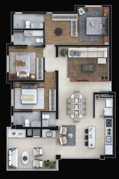 House Plans Mansion, Sims House Plans, House Layout Plans, Dream House Plans, Modern House Plans, Small House Plans, House Layouts, House Floor Plans, House Floor Design