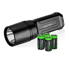 FENIX TK35 2015 version 960 Lumen CREE XML2 U2 LED Tactical Flashlight with 4 X EdisonBright CR123A Lithium batteries Holster  Lanyard bundle ** You can get additional details at the image link. (This is an affiliate link) #CampingLightsLanterns