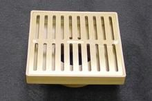 "NDS 6"""" Square Satin Brass Grate w/Styrene Adaptor NDS920B"