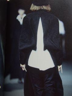 "Yohji Yamamoto - a/w 1995-96   ___ photo taken by Steil Zeitgeist user ""Chameleon"" of a book by Kiyokazu Washida"