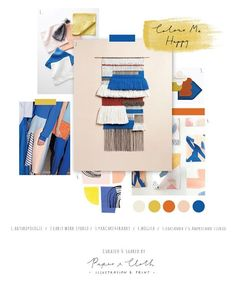 Cobalt blue toned mood board for a beautiful colour palette. Mustard, royal blue, terracotta and blush pink. Planners, Blue Palette, Colour Board, Color Stories, Color Theory, Color Trends, Bold Colors, Color Inspiration, Color Schemes