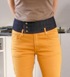 Grew out of those low-waist jeans (pyisically or mentally)? They can still be saved with added higher waistband.
