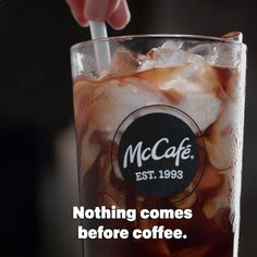 Mornings aren't always the easiest. Neither are commutes or late night study sessions. Luckily for you, there's a whole new McCafe espresso menu at participating McDonald's filled with café-quality espresso drinks and re-crafted classics. Grab a Caramel Macchiato, Mocha, Cappuccino or Americano, then deal with whatever the day brings. Because nothing comes before coffee.