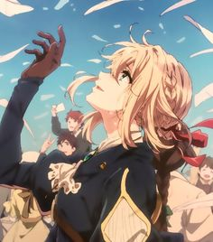 Image about cute in Violet Evergarden by ~ Naho ~ Me Anime, I Love Anime, Manga Anime, Art Manga, Anime Art Girl, Violet Evergarden Wallpaper, Photo Manga, Violet Evergreen, Violet Garden