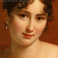 France. Portrait of Madame Recamier, 1802. (detail) // painting  by Francois Gerard (1770-1837)