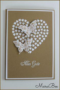 Hochzeitskarte in Karamell!