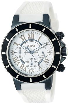 a_line Women's AL-20100DV Marina Chronograph White Dial White Silicone Watch *** Hurry! Check out this great product