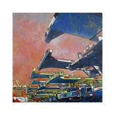 Eric Rewitzer's original painting was inspired by the Bay Area's bustling ports and seaside industry. This reproduction is printed on-site in our Outer Sunset, San Francisco studio with 8-color UltraChrome K3™ inks on 300gsm Hot Press Bright paper. Free shipping anywhere in the United States.